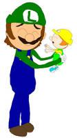 Luigi and Baby Felice