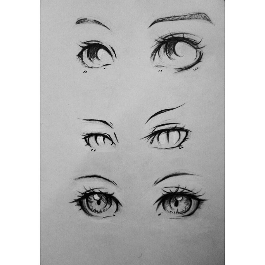 Anime Eyes by NasiK2424 on DeviantArt