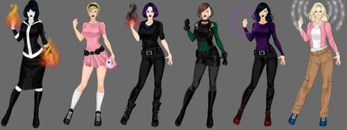goth x-girls 2 by Shadowofjustice123