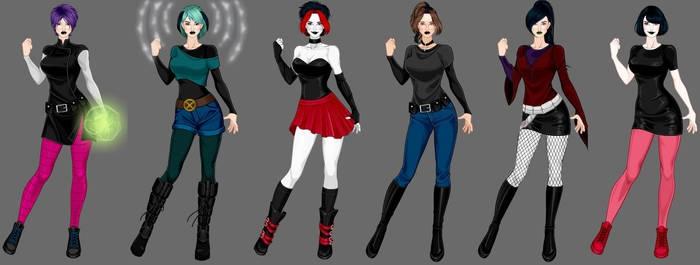 goth x-girls 3 by Shadowofjustice123