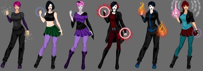 goth x-girls 4 by Shadowofjustice123