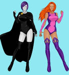 raven and starfire by Shadowofjustice123