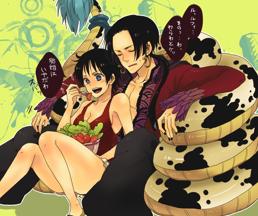 Luffy and boa by lovleygraphic on deviantart - One piece luffy x hancock ...