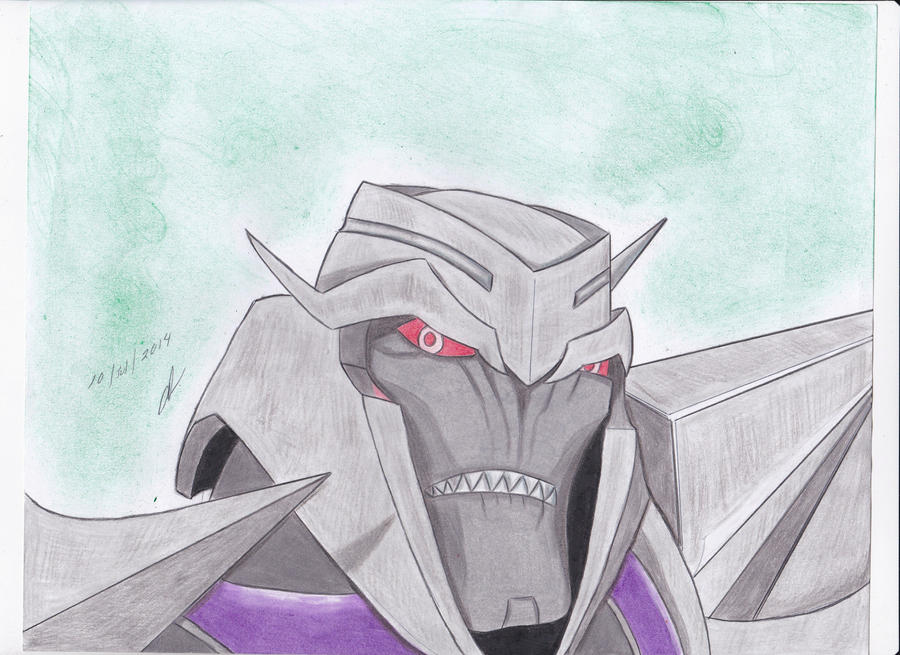 first drawing of megatron transformers prime by ailgara on