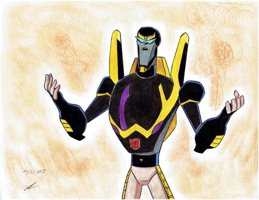 Mis dibujos de Transformers - Página 15 Arguing_with_bumblebee_tfa_by_ailgara-d8ulr7r