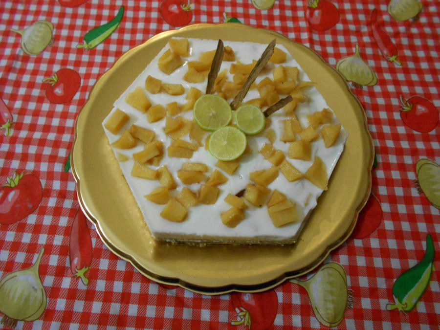 yogurt tart with quince by ailgara on DeviantArt