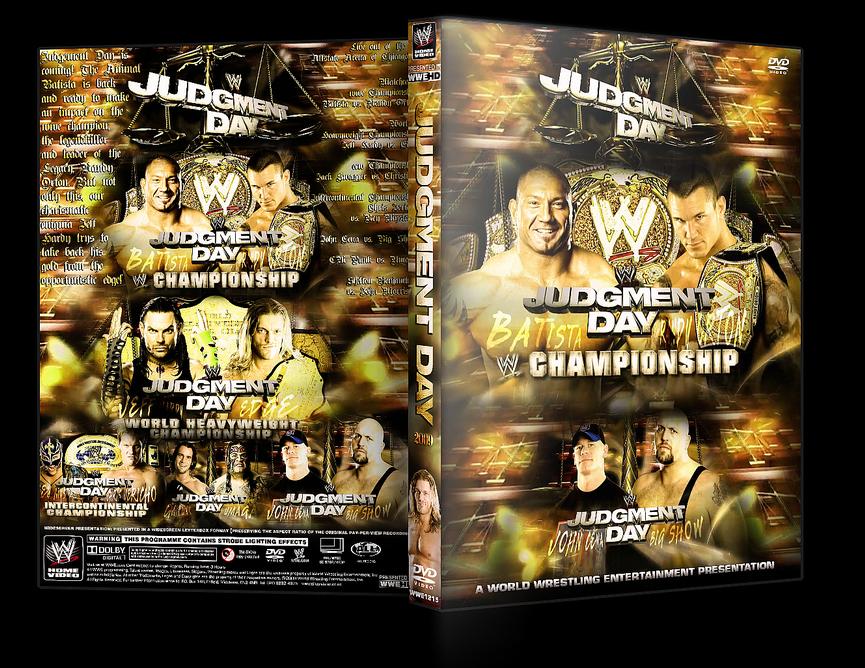 Judgement Day DVD Cover V2 by Y0urJoker