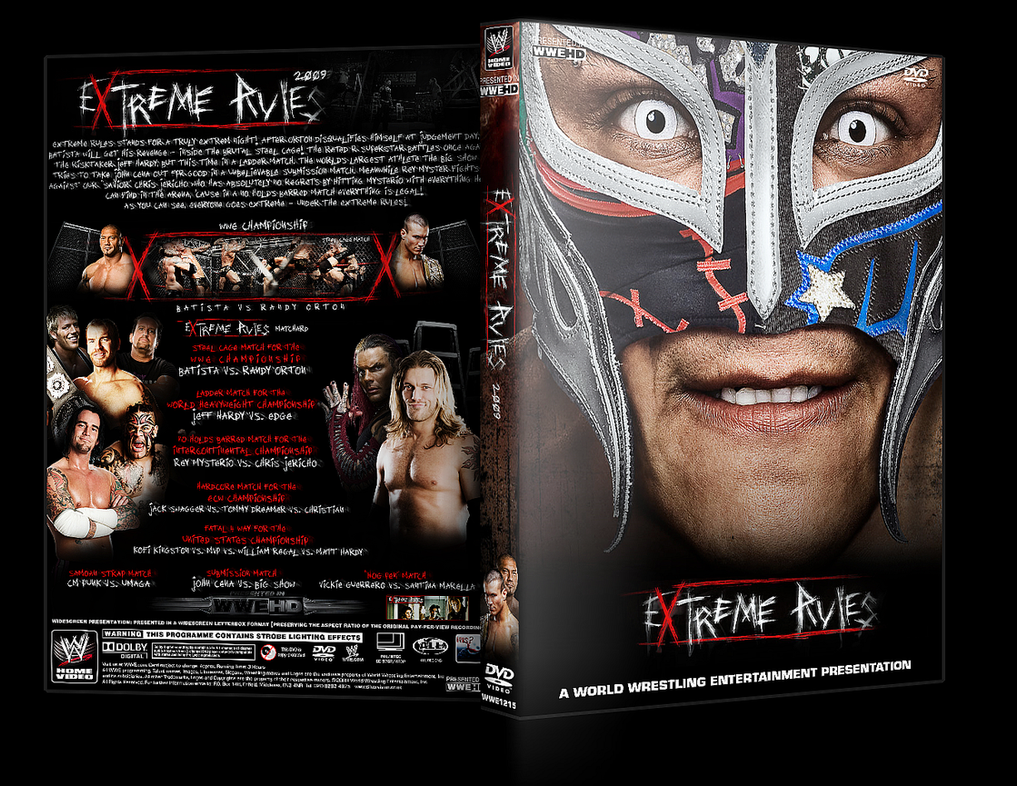 WWE Extreme Rules DVD Cover V1 by Y0urJoker