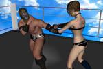 Daz3d: Mixed Wrestling test Part 6