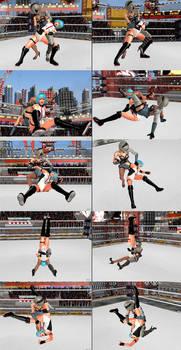 XPS wrestling: 2b Dominates Nico(DOA) by fulgore12