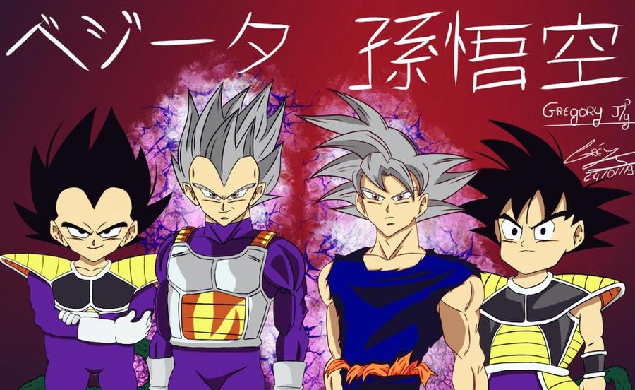 Dessin Goku Vegeta Ultra Instinct Et Petit By Gregoryjly On