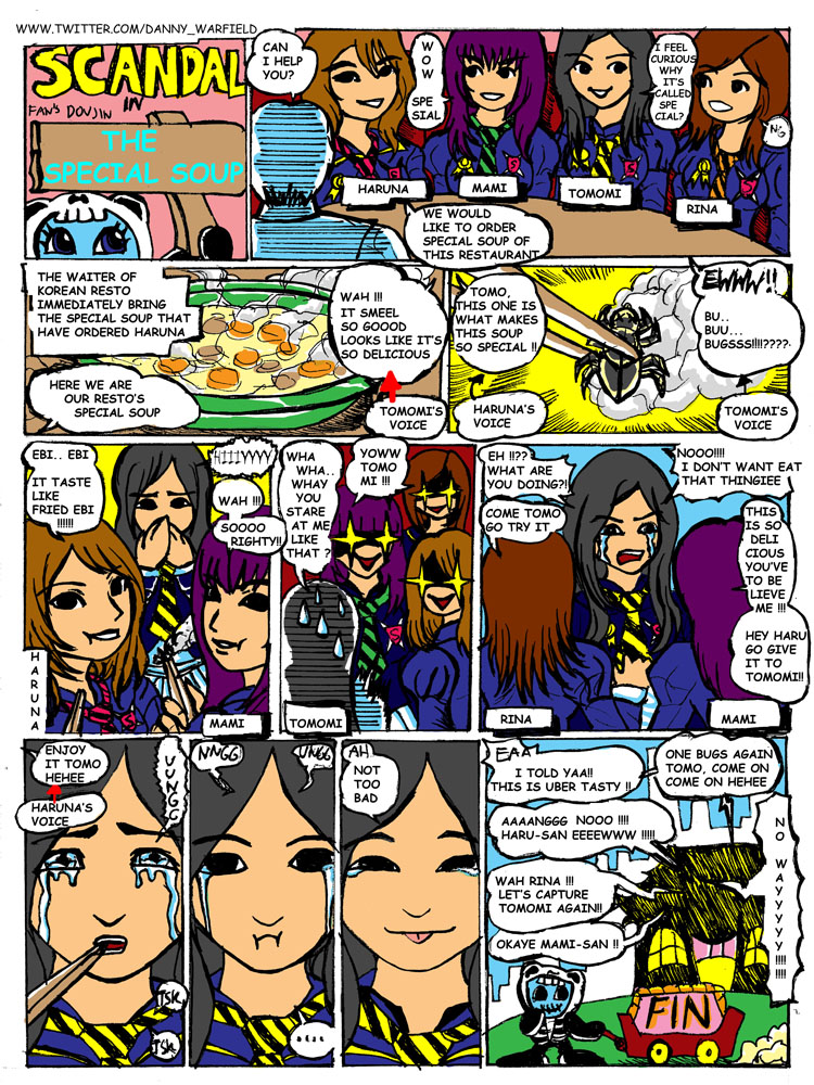 Need help for re-collecting SCANDAL funny moment story Scandal_doujinshi_episode_soup_by_warfield-d40cs40