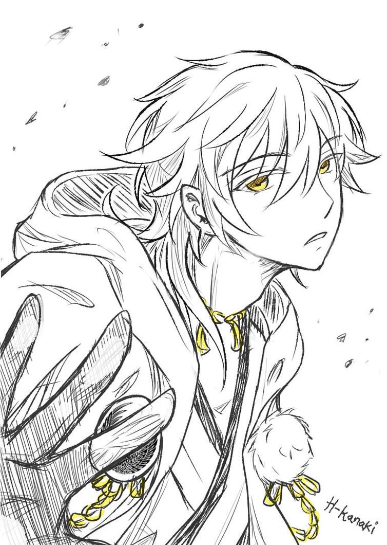 Tsurumaru Kuninaga Sketch #2 by H-Kanaki