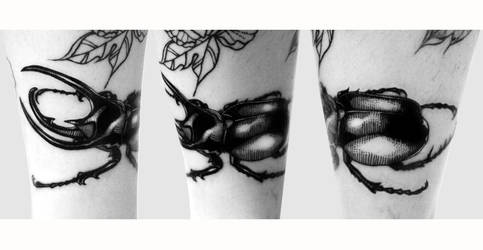Beetle tattoo by Reza-malinova