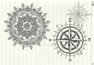 dotwork 4 and wind rose