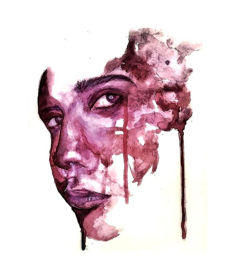 Spilt Ink by JodieJuo