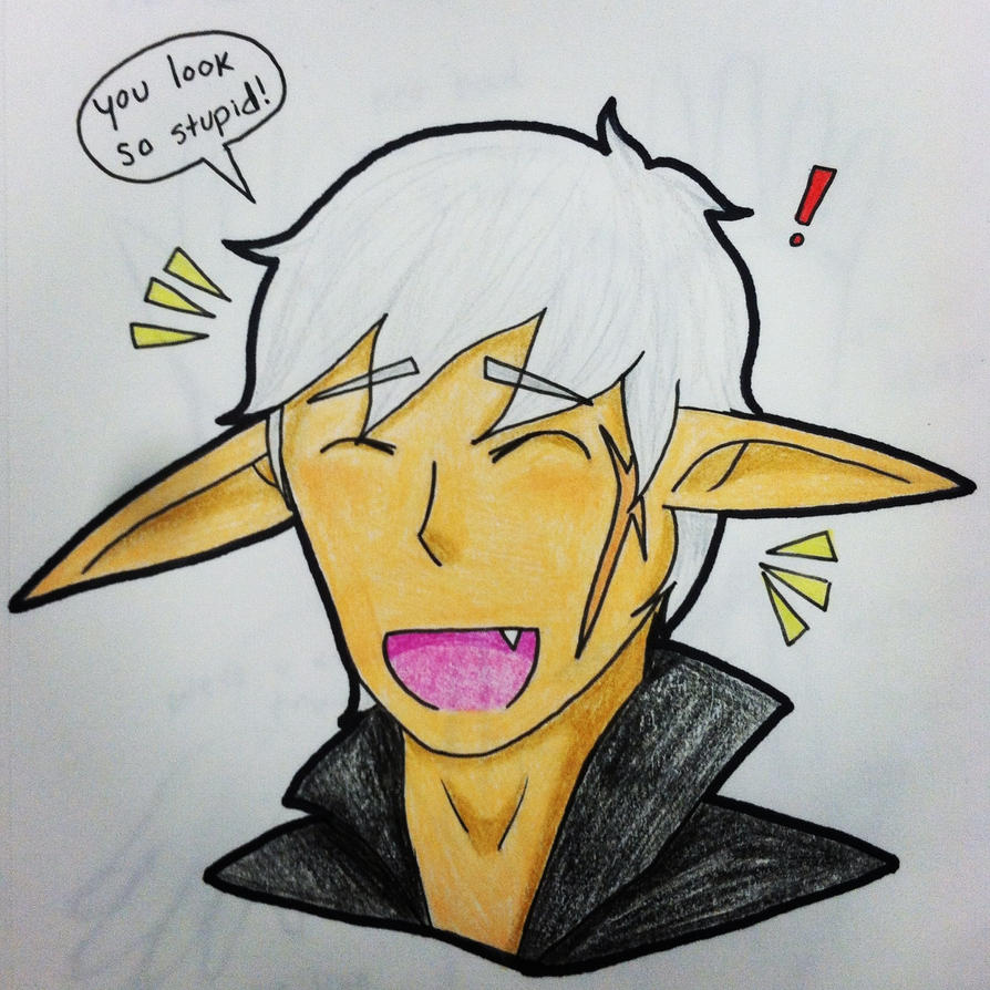 Laughing Xiero (Colored) by Alison-Earth-Ninja