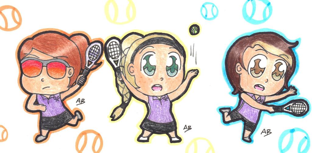 Tennis Chibis by Alison-Earth-Ninja