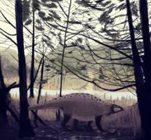 Lotosaurus adentus