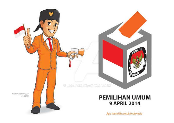 Maskot Pemilu 2014 Si Kamil By Reza Rs 1-72dpi by rzart