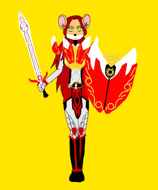 Vanilla de Vissen as Kamen Rider Idun-Golden Arms by HanSHangul
