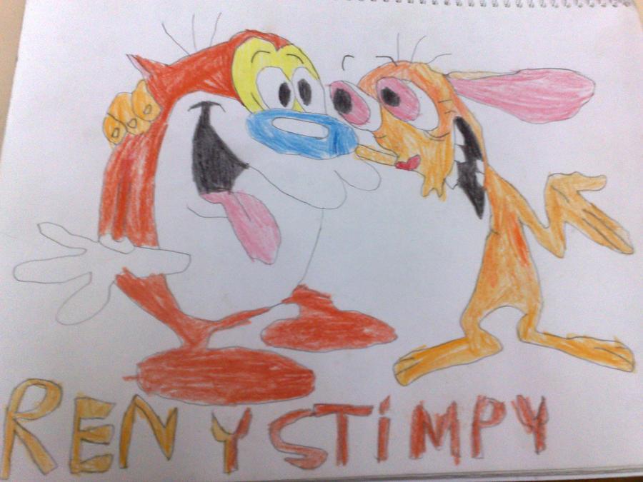 Mi primer dibujo del block, Ren y Stimpy