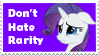Don't Hate Rarity Stamp by AndresToons