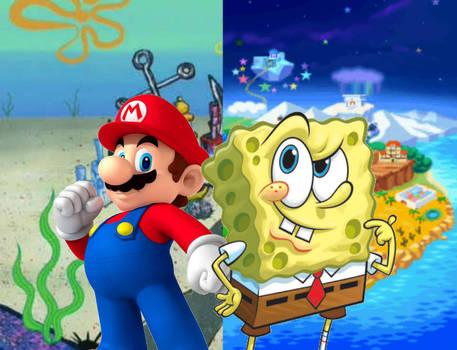 Super Mario y Bob Esponja