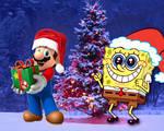 Feliz Navidad con Mario y Bob Esponja