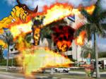 Patricio y Greymon destruyendo Televisa