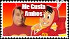 El Chapulin Colorado original y animado stamp
