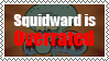 Squidward is Overrated stamp by AndresToons