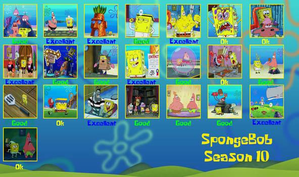 Bob Esponja Temporada 10 rating
