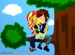 AndresShimmer - Kissing on a Tree by AndresToons