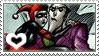 JokerxHarley stamp by FreakishZombie
