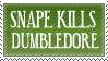 SNAPE KILLS DUMBLEDORE by FreakishZombie