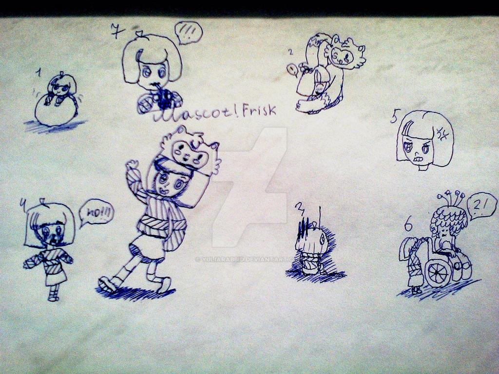 Mascot!Frisk doodies by YuliaRabbid