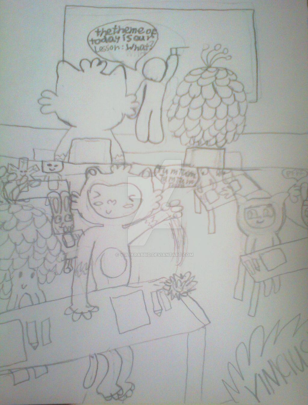 Vinicius e Tom doodies 6: Arranged a School by YuliaRabbid
