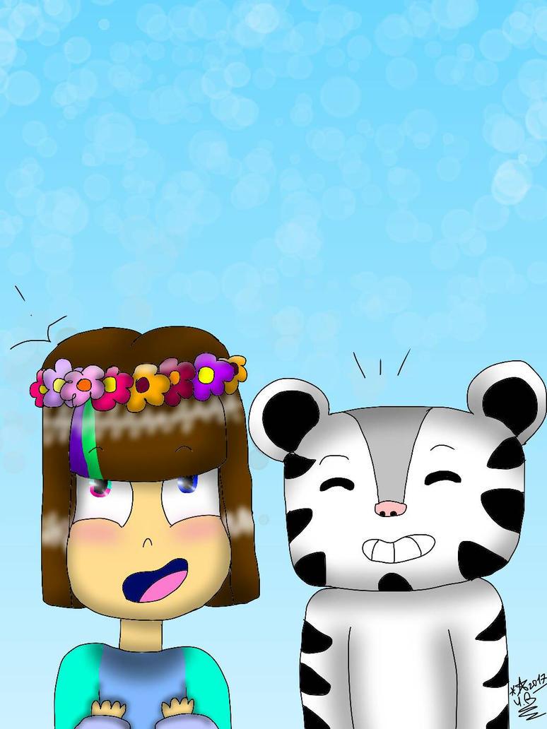 Mascot!Frisk and Soohorang :3 by YuliaRabbid