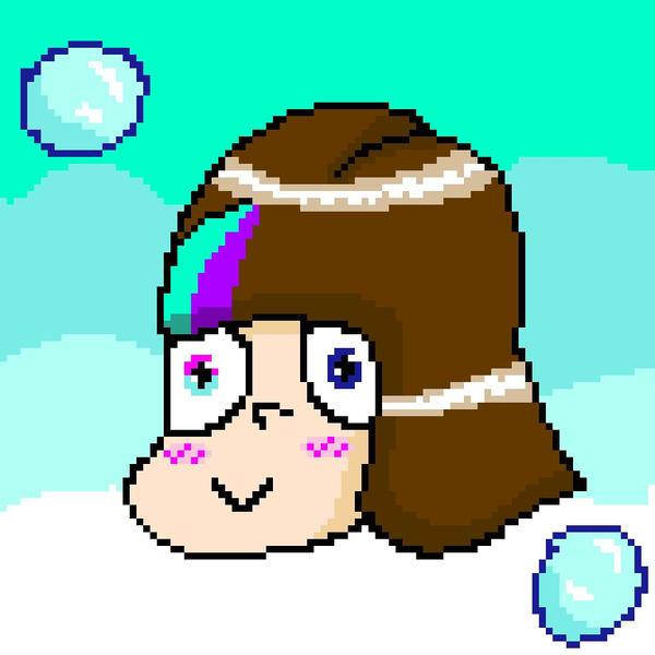 Mascot!Frisk pixel version by YuliaRabbid