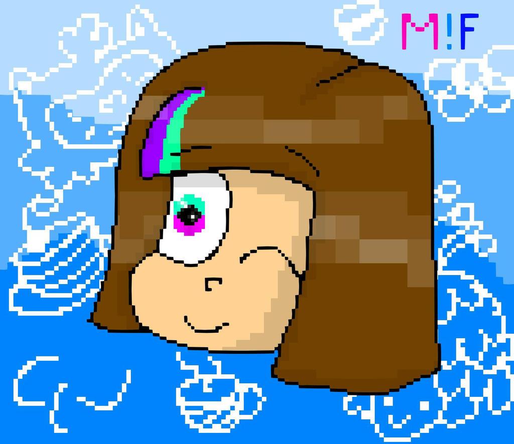 Mascot!Frisk Pixel ( 2 version ) by YuliaRabbid