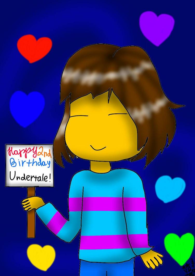 Happy 2nd B-Day Undertale by YuliaRabbid