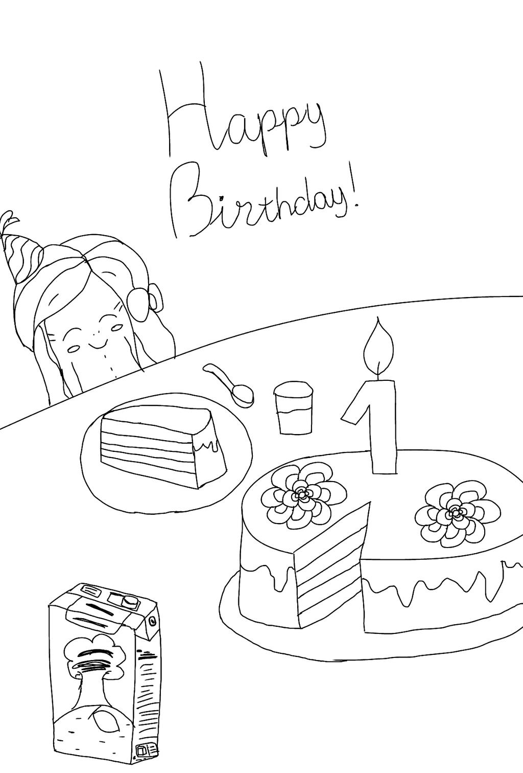 Happy birthday, Anastasia! by YuliaRabbid