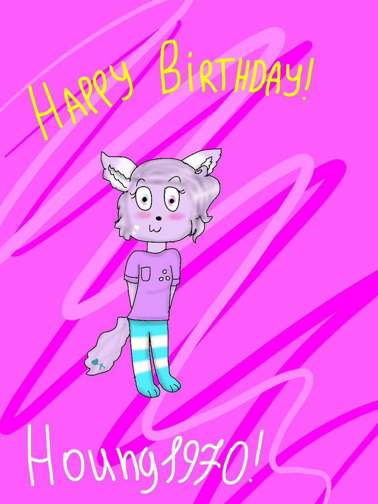 Happy Birthday! Houng1970! by YuliaRabbid