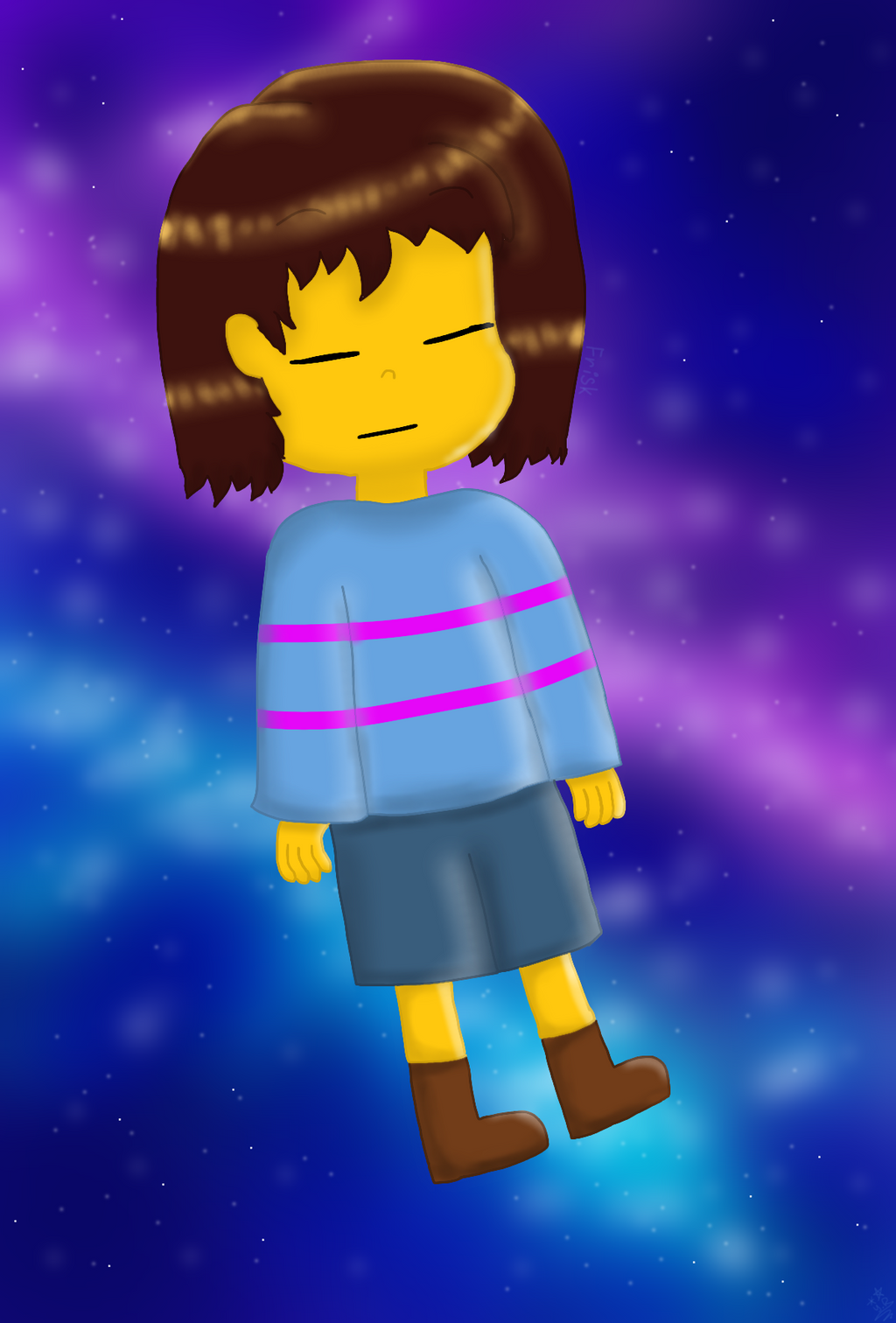 .:UNDERTALE:. Frisk The Human by YuliaRabbid
