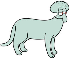 Squidward as a cat