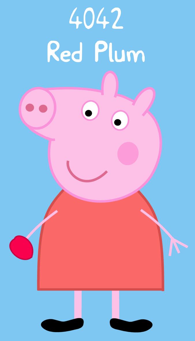 Peppa Pig Red Plum PLU sticker by dev-catscratch