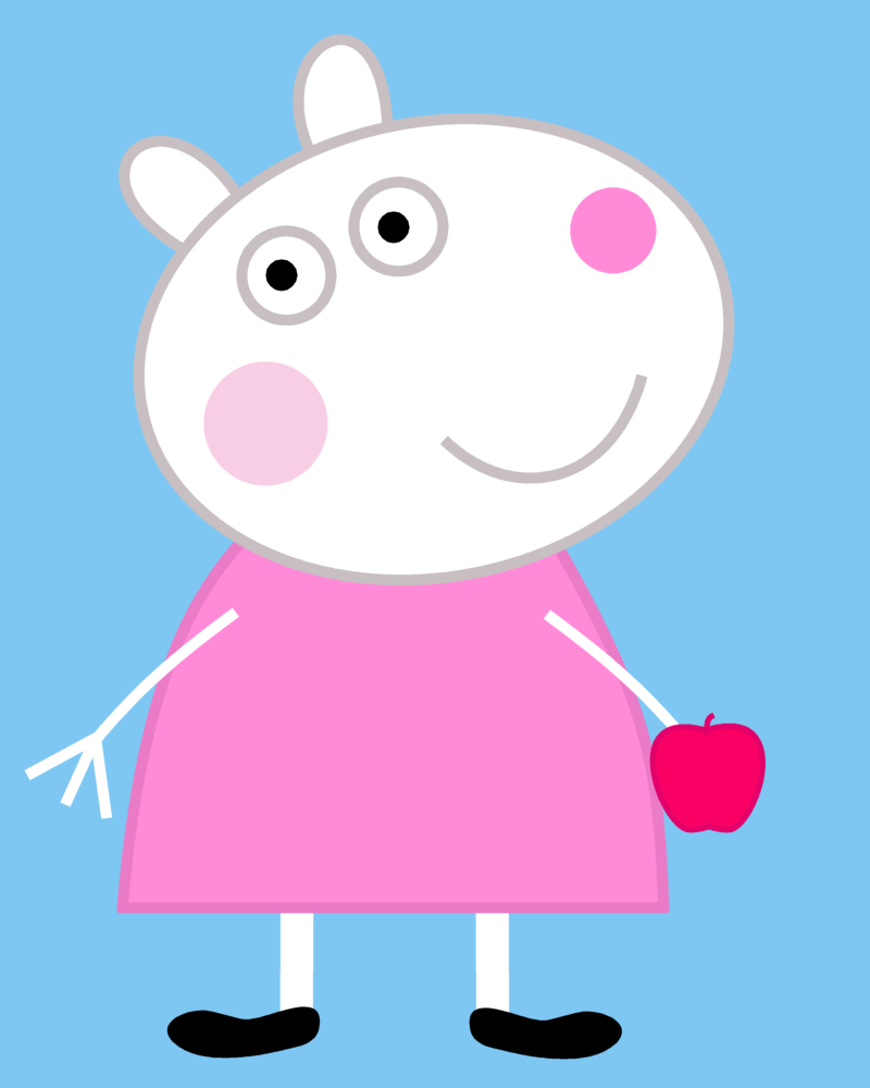 suzy sheep eating a cripps pink by dev catscratch on Peppa Pig Tutu free peppa pig clip art images