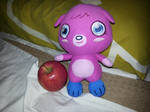 Poppet plush with a Cripps Pink