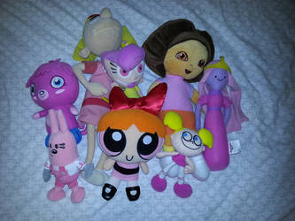 Plushes to-be breast cancer warriors by dev-catscratch